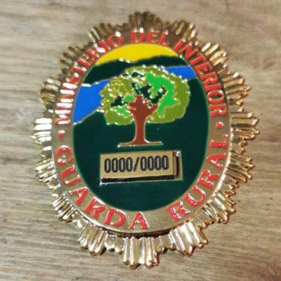 placa metal guarda rural